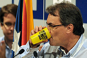 Artur Mas calmando su sed de independencia