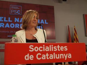 Chacón asegura que hay que echar a Rajoy ante el Consejo Nacional del PSC, 24 de octubre 2015.